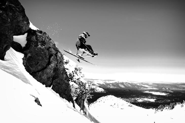 Jeremy - Rock drop - horizontal B&W